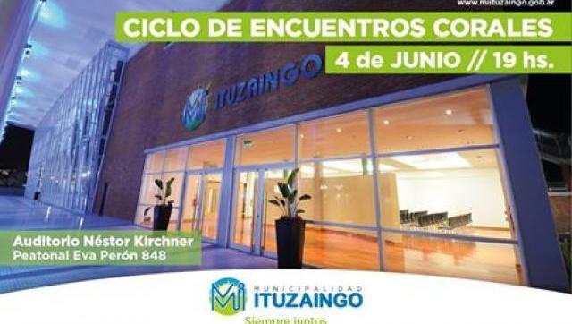 Nuevo encuentro coral en el Auditorio Municipal Néstor Kirchner