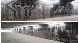 Una artista de Ituzaingó plasma la historia argentina en las paredes del mundo