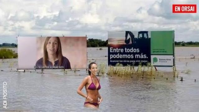 La Provincia con inundaciones, Vidal de vacaciones