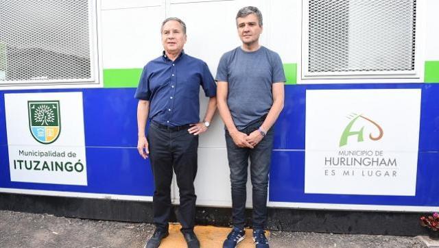 Descalzo y Zabaleta inauguraron una posta policial en el límite entre Ituzaingó y Hurlingham