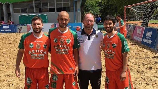 """En la foto Lucas Dupelliet, Agustin Dallera, Diego Dupelliet y Oscar """"wity"""" Ibañez"""
