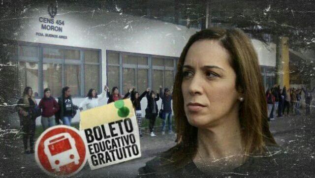 Protesta por el boleto educativo gratuito