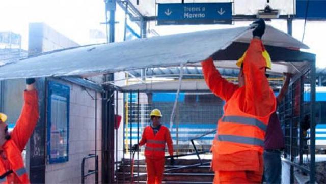 Avanzan las obras para renovar la estación de Morón