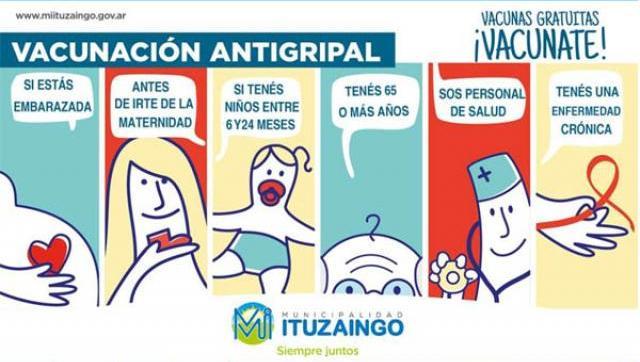 Vacunación antigripal gratuia en Ituzaingó