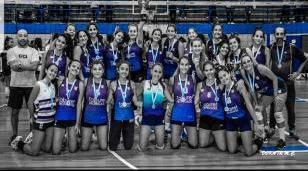 Voley inferiores Damas: campeonas del nivel D de la Federación Metropolitana