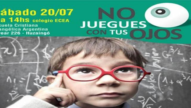 Campaña de salud visual «No juegues con tus Ojos»