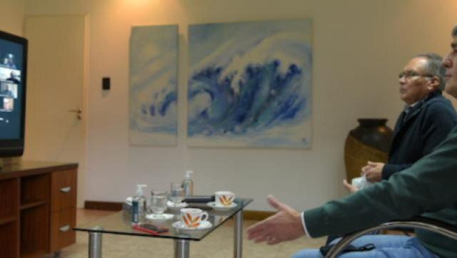 Descalzo y Zabaleta realizaron un encuentro virtual con periodistas