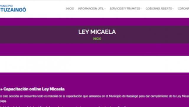 Ley Micaela: Ituzaingó se adhirió al curso de formación de formadores