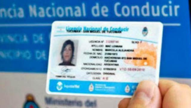 Prorrogan el vencimiento de la licencia de conducir