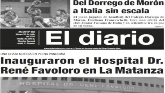 El diario N° 883 - 31 de Julio de 2020