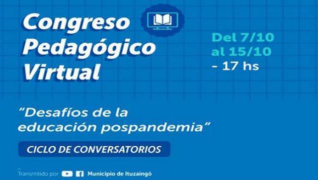 """Comienza el Congreso Pedagógico Virtual """"Desafíos de la educación pospandemia"""""""