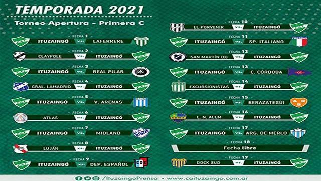 El domingo comienza el Torneo de la Primera C para Ituzaingó